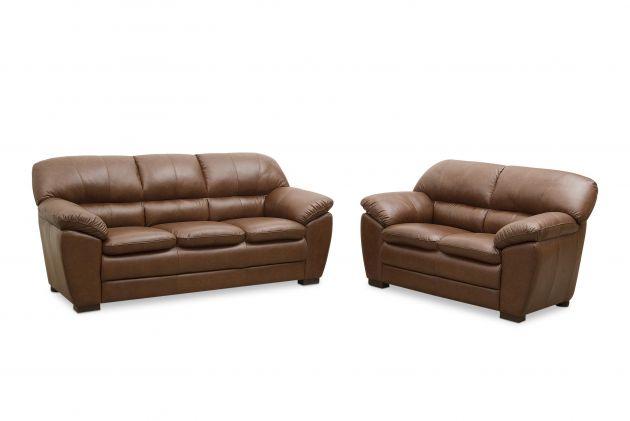Jogo de sofás em couro - Classic de dois (1,60 m) e três (2,12 m) lugares