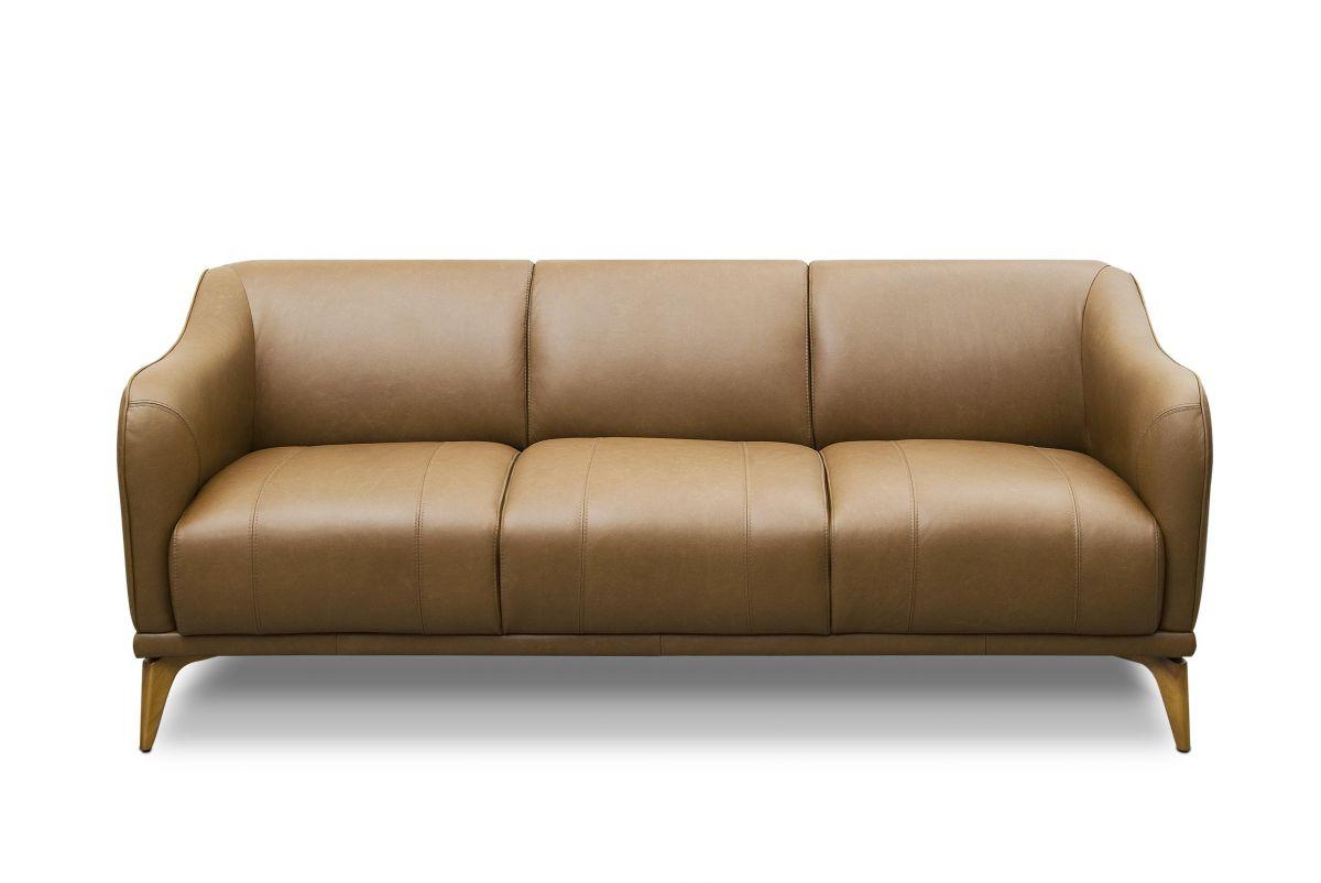 Sofá de couro - Amaro de 1,95 m com três lugares