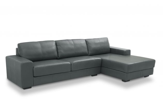 Sofá de couro - Charming de 3,20 m com dois lugares mais Chaise