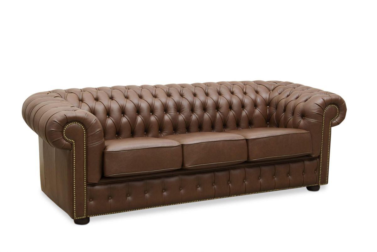Sofá de couro - Chesterfield de 1,80 m com dois lugares