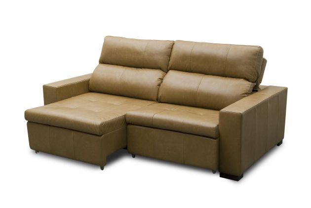 Sofá de couro - Dolce de 2,20 m com duas almofadas de 0,90 cm