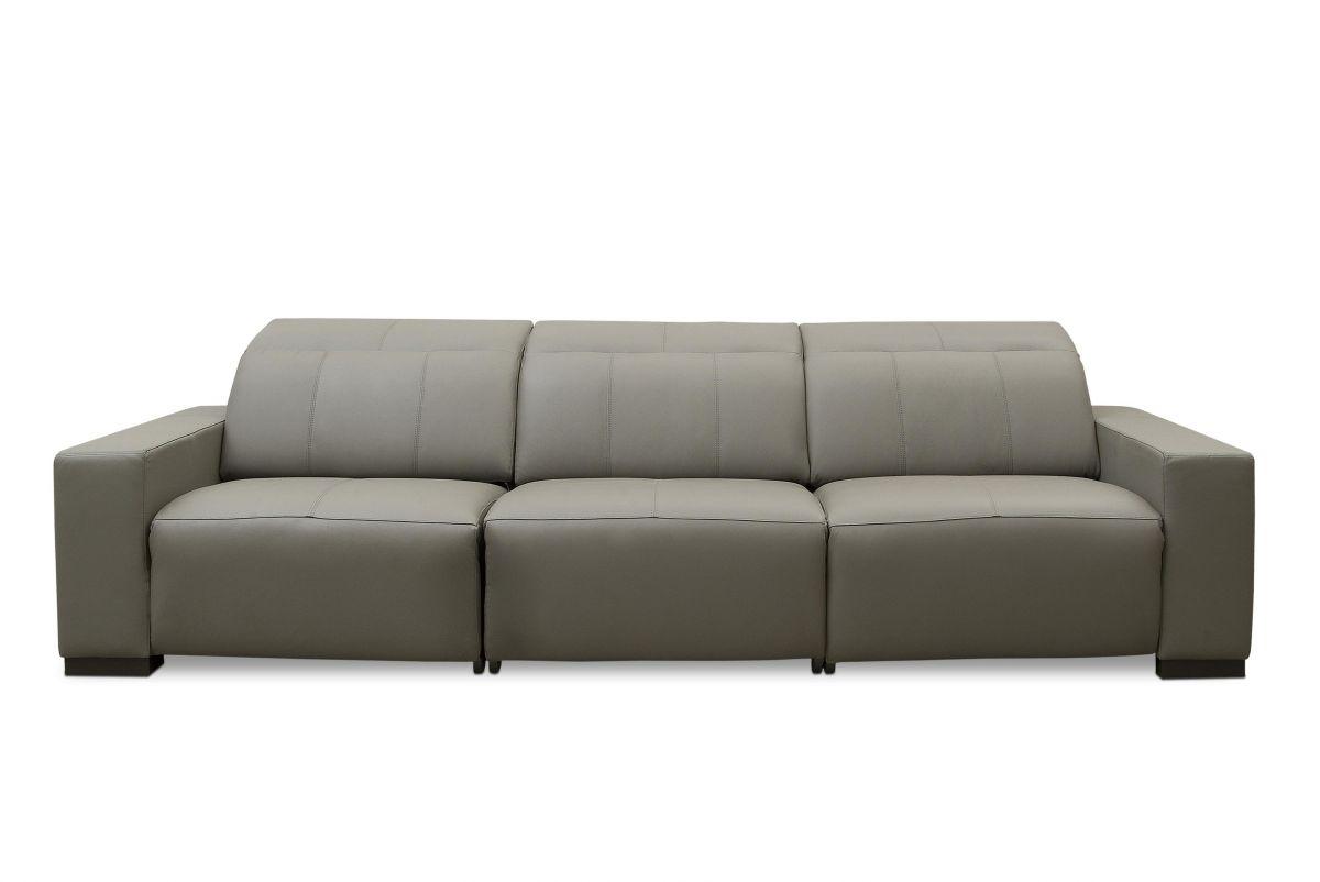 Sofá de couro elétrico - Relax de 2,40 m com três lugares