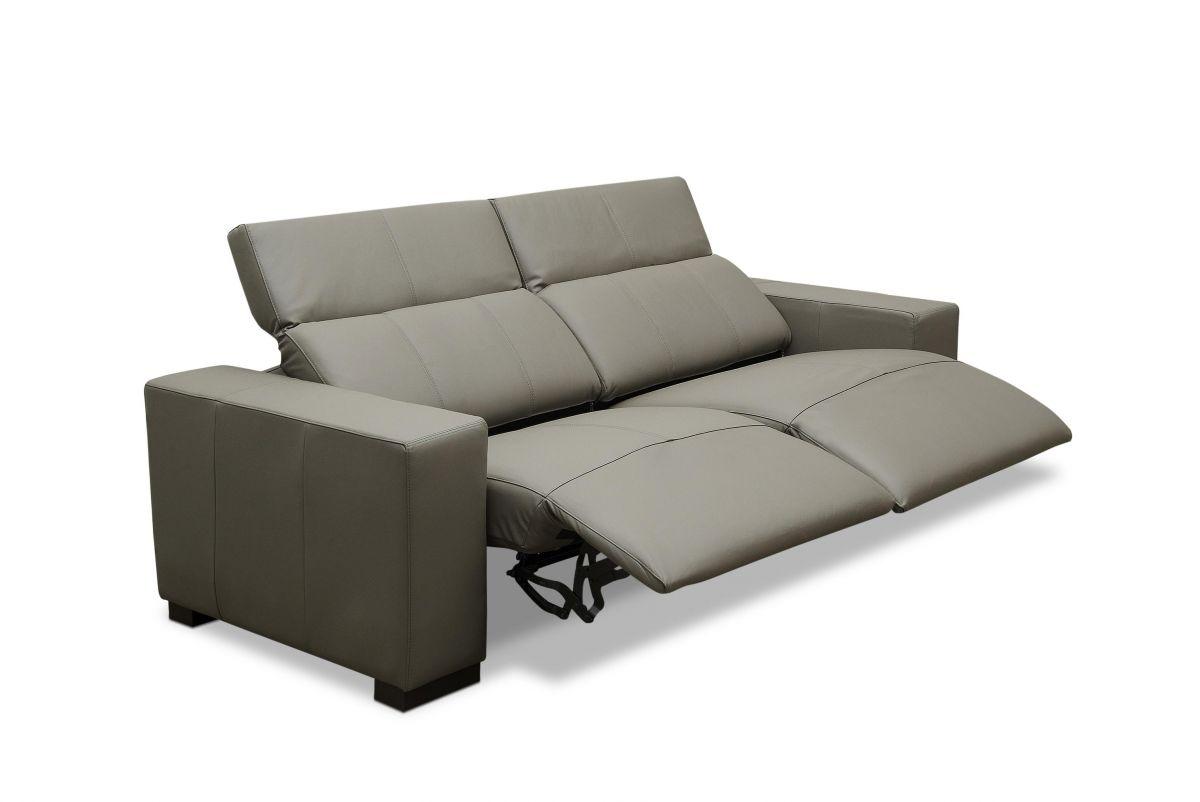 Sofá de couro elétrico - Relax de 2,46 m com dois lugares