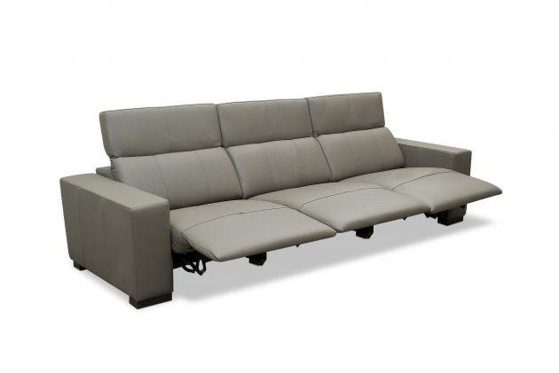 Sofá de couro elétrico - Relax de 3,00 m com três lugares