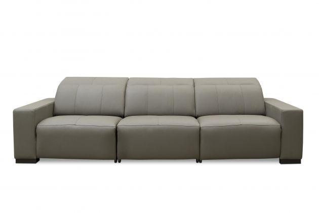 Sofá de couro elétrico - Relax de 3,45 m com três lugares