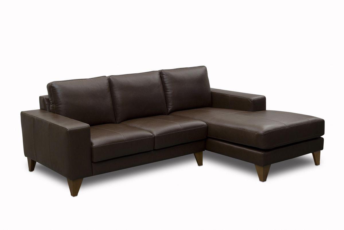 Sofá de couro - Leggero de 2,05 m com dois lugares mais chaise