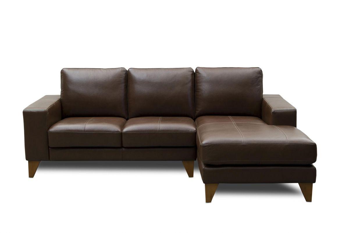 Sofá de couro - Leggero de 2,50 m com dois lugares mais chaise