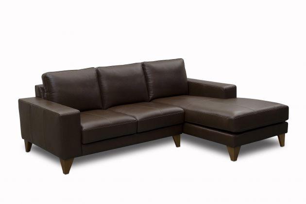 Sofá de couro - Leggero de 2,95 m com dois lugares mais chaise