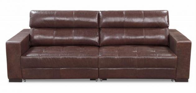Sofá de couro - Lumine de 2,20 m, retrátil e reclinável