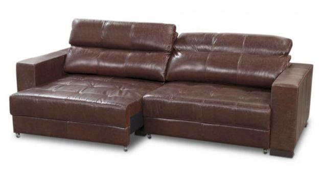 Sofá de couro - Lumine de 2,60 m, retrátil e reclinável