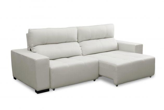 Sofá de couro retrátil - Lux de 2,30 m com assentos de 0,90 cm
