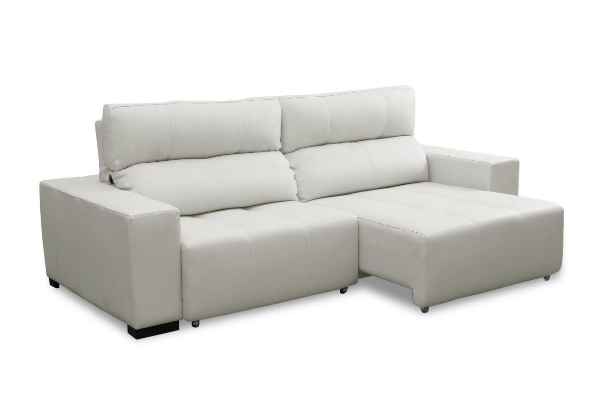 Sofá de couro retrátil - Lux de 2,70 m com assentos de 1,10 m