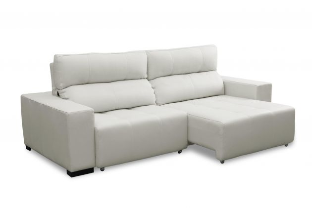 Sofá de couro retrátil - Lux de 2,90 m com assentos de 1,20 m