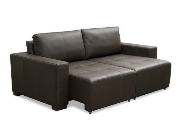 Sofá de couro retrátil  - Movie de 2,10 m com dois assentos