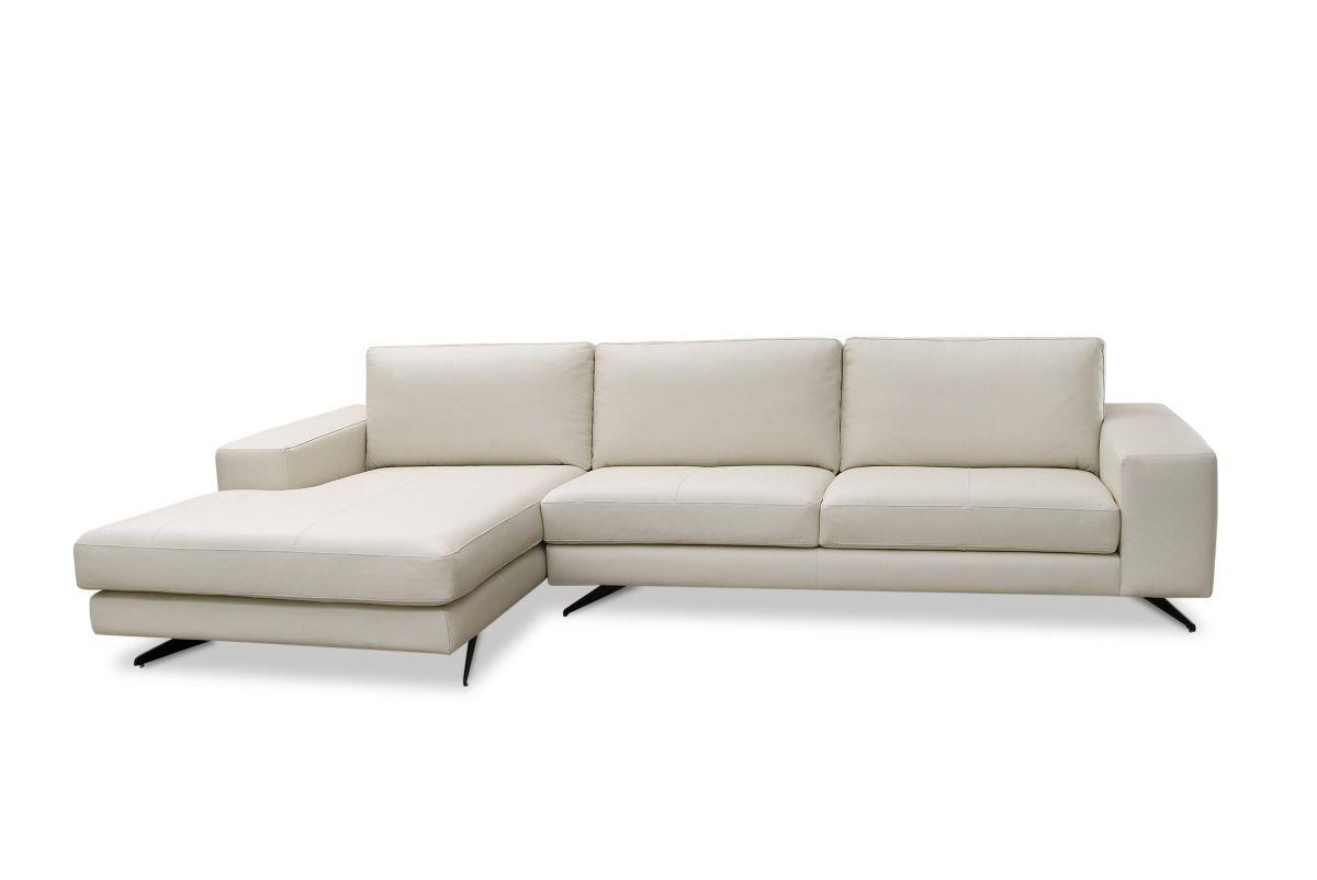 Sofá de couro - Stanza de 2,95 m com dois lugares mais Chaise